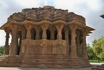 The Sun Temple of Modhera / The Sun Temple in Modhera, Gujarat was built in the early 11th century by King Bhimdev, in dedication to the Hindu Sun-God, Surya. The temple's magnificent exterior is intricately carved, and designed in such a way that the sun's rays illuminate the temple's sanctum at dawn during the equinoxes. Photos by Dharti Patel