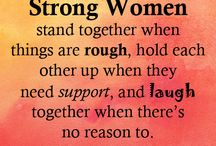 Women support each other