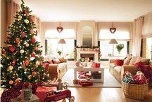 classic christmas home interior