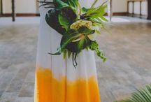 Tropical theme mariage