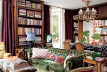 A Lovely Library. / A Lovely Library: modern and traditional library, study, and den inspiration. Blog Tags: books, bookshelves, library, read, reading, study, studying / by Sarah Sarna | SarahSarna.com