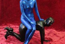 Erotic Female Zentai with sexy bondage
