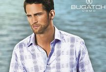 Bugatchi Uomo / Bugatchi Uomo is an Italian-inspired shirt design company that combines fashion-forward styles with high quality and feel. Bugatchi Uomo collections use some of the finest European fabrics sourced from European mills.