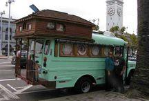 12. Odd camper vans,  trike vans,  truck houses, water houses.