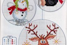 Natale: punto croce