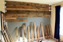 plank-clad walls