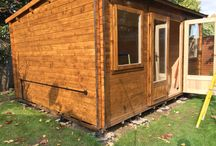 Log cabin , Home Gym / Connecting and installing electrical cables !