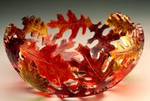 FUSED GLASS / BOWLS / by AMY ANDERSON