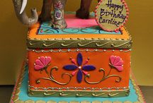 Indian themed cakes
