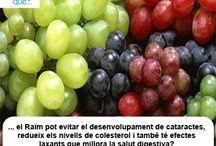 Raïm / Uvas  / Aquí trobaràs curiositats sobre el raïm  / Aquí encontrarás curiosidades sobre las uvas