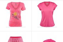 Pink tennis fashion / Everything pink for the courts and for fitness. #pink