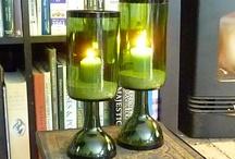 candelabros  botella