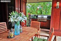Hawaii Outdoor Living Spaces / Some of our favorite outdoor living spaces from homes around Maui, Hawaii.