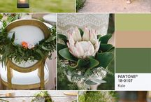 "2017 Wedding Color of the Year: Pantone / According to The Knot, ""Neutrals and pastels have paved the way for a total return to color. Expect to see pops of bold shades and bright color pairings. Pantone named greenery the Color of the Year—it's vibrant and earthy, making it perfect for all seasons. This fresh hue is symbolic of ""the reconnection we seek with nature, one another and a larger purpose,"" says Leatrice Eiseman, executive director of the Pantone Color Institute. We expect to see this shade of green in everything from floral arrangements to colored linens."" Website is www.theknot.com/content/2017-Wedding-trends"