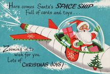 Space Age Santa / Xmas though the Jet Age, the Space Age and beyond!