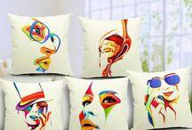 cojines con cara pintadas