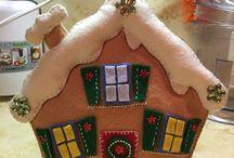 Lavoretti di natale / Lavoretti di Natale in pannolenci e feltro
