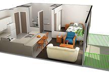 1 bdrm floorplans