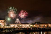 Helsinki, Uusi Vuosi 2015 Kauppatorilla / Uuden vuoden 2015 ilotulitus.