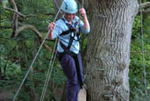 High Ropes / The Black Rock Outdoors High Ropes Course is at Cobbs Cross Farm. This is a 'Development' Course and is very much a group activity, encouraging everyone to work together and support each other.