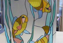 Роспись по стеклу / Техника и дизайн росписи по стеклу