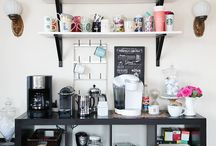 DIY coffee demand centres / Amp up your AM with these DIY coffee bar carts for your home.
