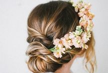 Floral Crown with Updo