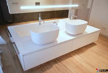 Modern bathroom with Luxum products