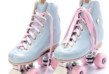 retro, outfits, rollerskates