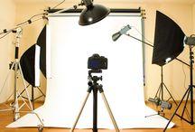 Equipamentos para estúdio fotográfico