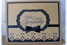 Cream and brown Sympathy card