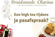 High Tea / Een high tea tijdens je pas afspraak, bij ons kan het ! Tijdens het uitzoeken van jou trouwjurk kun je samen met je familie en vriendinnen gezellig proeven van vele lekkernijen. / by Bruidsmode Charina