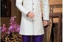 Royal Mens Wedding Sherwani Kurta Pajama / Sherwani for Men: Indian Mens Sherwani Online USA UK | Heenastyle. the perfect outfit for Indian groom's big day, which ensures that even the men are ogled Heenastyl