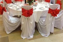 Red and white wedding (universal satin chair cover)