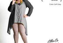 2015 - Manolya Tunic / Tunic blouse, material Chambray Cotton which specially designed for sophisticated curvy women originally made by Indonesian Designer & Local Brand: Ella Es Bonita.