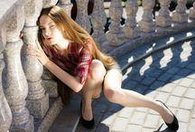 Viktoria Khaliullova - Виктория Халиуллова / Viktoria Khaliullova, Russia, Model, Russet, Long, Hair, Skinny, Bellazon