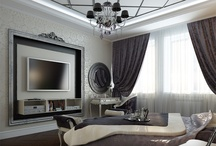Bedroom-living room in Art Deco style