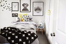 kids room black&white / #kids #kids design #kids room #design #interior design #home decor #rooms #bedroom #black and white