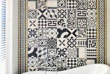 carreau ciment salle de bain / le carreau ciment dans la salle de bain : le décorateur vous conseil sur leurs emplacements. Sol ou mur il donnent du cachet à votre logement. Découvrez nos projets: http://www.e-interiorconcept.com