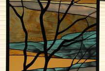 Stain glass panel / Spring thaw