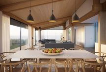 Shades of wood rooms
