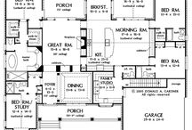 Floor plans I love!!! / Each floor plan has elements I would love in a new house
