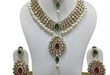 Kundan Polki Wedding Bollywood Designer Jewelry Set