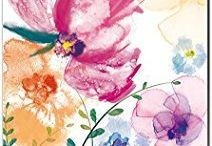 splatter flowers