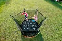 Backyard trampoline fun / Vuly Trampolines offer the best bounce in the industry, the highest safety net, and great accessories to bring the fun into the night with Vuly trampoline tent camping