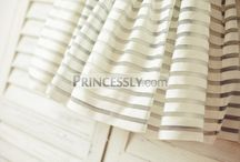 Dress Fabrics / Princessly employs the best fabrics available to make the dresses and skirts.