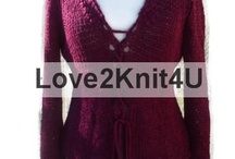 Women Hand Knit and Hand Crochet Sweaters by Love2Style4UFashion on Etsy / Love2Style4UFashion creations are one-of-a-kind Hand knit with love by Lourdes Zuniga in a clean smoke-free and pet free environment. All Made in USA and American Made. These garments are new and never been worn. Worldwide shipping!