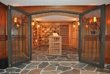 Wine Cellar and Cigar Lounge / Custom designed and built wine cellar and cigar lounge with floor to ceiling raking.