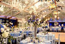 Modre dekorácie