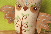 Owls handmade stuffed or soft